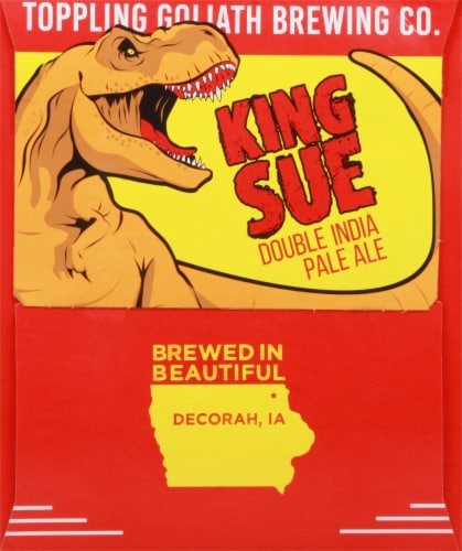 Toppling Goliath Brewing Co. King Sue Double India Pale Ale Beer Perspective: left
