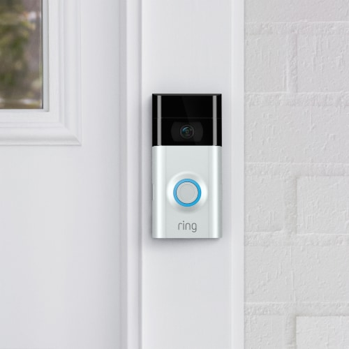 Ring™ Video Doorbell 2 - White/Black Perspective: left