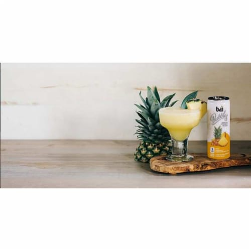Bai Bubbles Peru Pineapple Sparkling Beverage Perspective: left