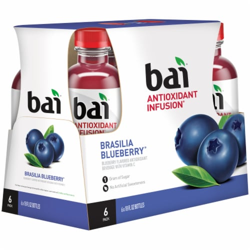 Bai Brasilia Blueberry Antioxidant Infused Beverages Perspective: left
