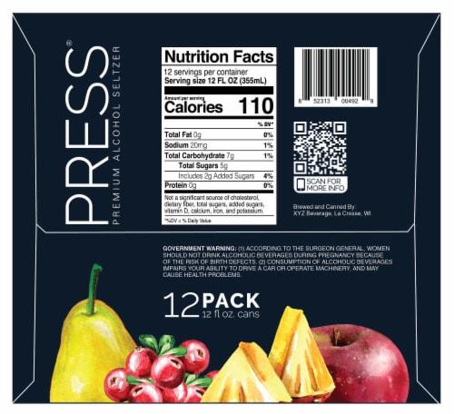 PRESS Premium Alcohol Seltzer Variety Pack Perspective: left