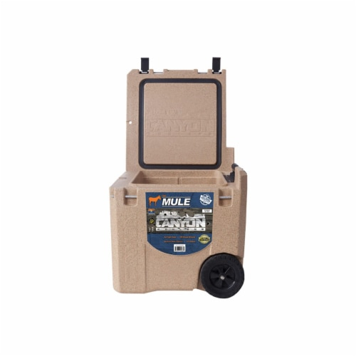Canyon Coolers Mule 30 Quart 28 Liter Insulated Cooler with Wheels, Sandstone Perspective: left