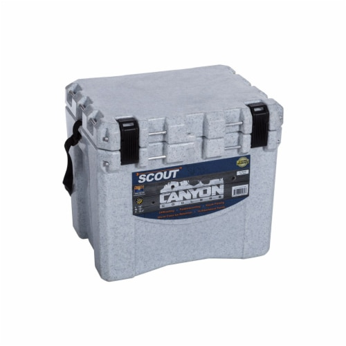 Canyon Coolers Scout 22 Quart 20 Liter Insulated Cooler w/ Ties, White Marble Perspective: left