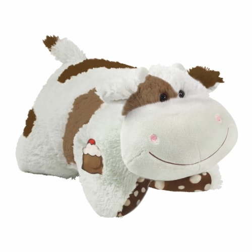 Pillow Pets Sweet Chocolate Milkshake Scented Cow Plush Toy Perspective: left