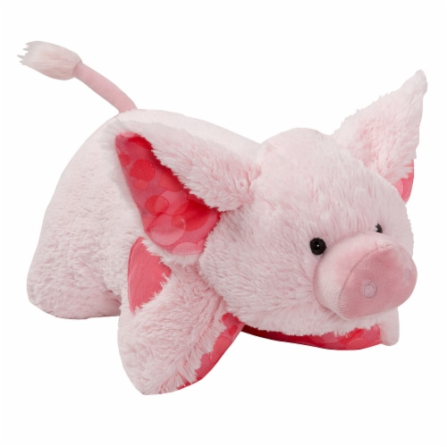 Pillow Pets Sweet Bubble Gum Scented Pig Plush Toy Perspective: left
