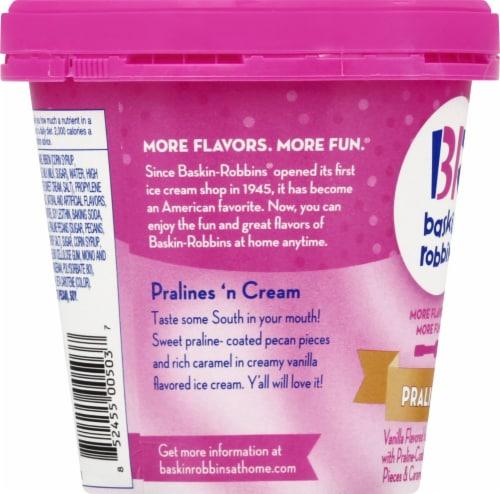 Baskin Robbins Pralines 'N Cream Ice Cream Perspective: left