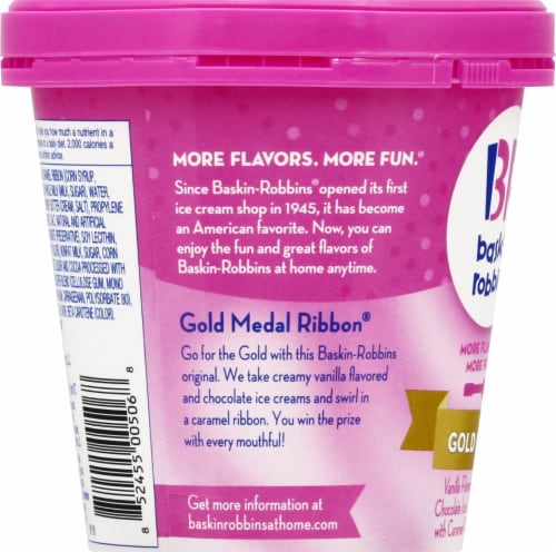 Baskin Robbins Gold Medal Ribbon Ice Cream Perspective: left
