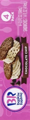 Baskin Robbins Chocolate Chip Ice Cream Sandwiches Perspective: left