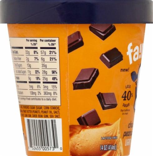 Fairlife Chocolate Peanut Butter Light Ice Cream Perspective: left