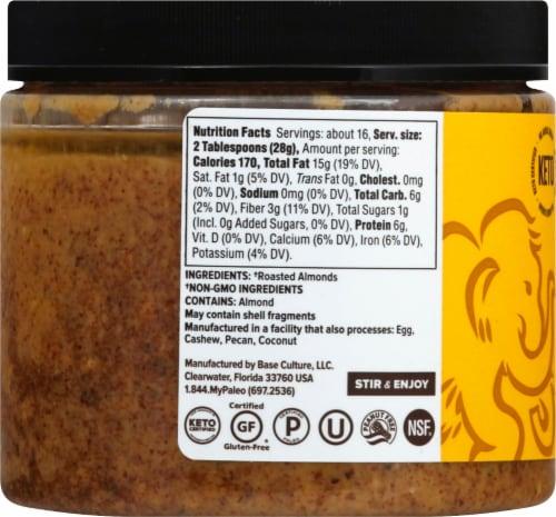 Base Culture Original Almond Butter Perspective: left