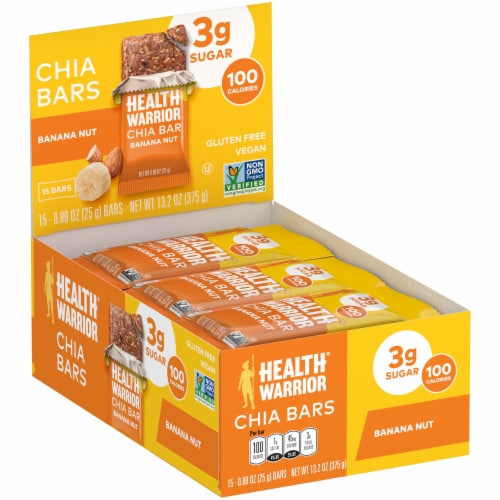 Health Warrior Banana Nut Chia Bars Perspective: left