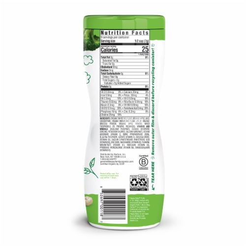 Happy Baby Organic Apple Puffs Baby Food Perspective: left