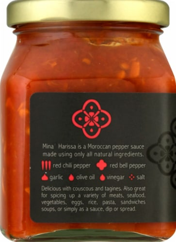 Mina Harissa Spicy Moroccan Red Pepper Sauce Perspective: left