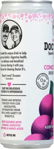 Doctor D's Concord Grape Sparkling Probiotic Drink Perspective: left