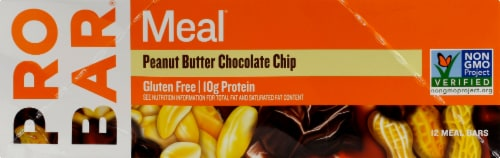 ProBar Meal Peanut Butter Chocolate Chip Bars Perspective: left