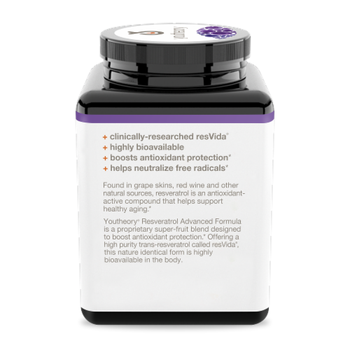 Youtheory™ Resveratrol Advanced Formula Tablets Perspective: left