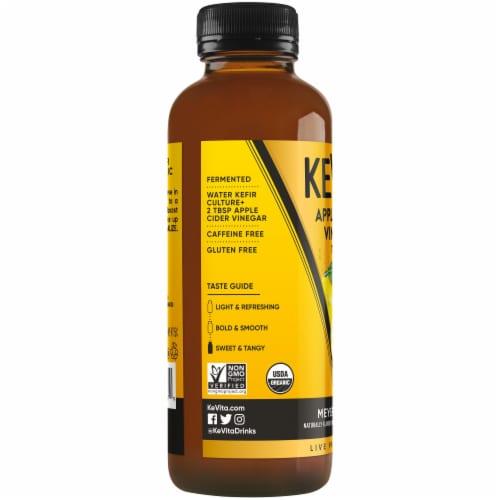 Kevita Apple Cider Vinegar Tonic Drink Meyer Lemon Perspective: left