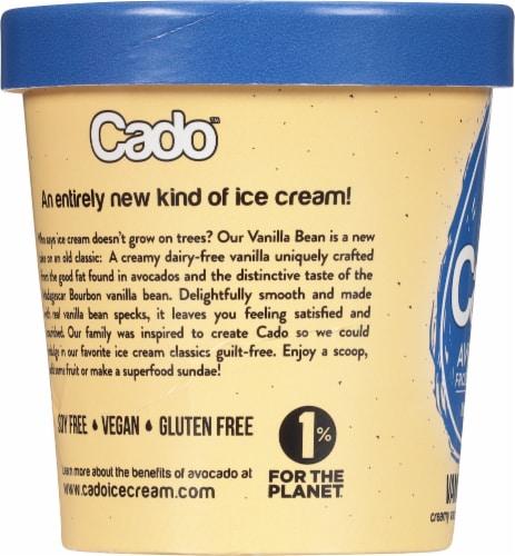 Cado Non-dairy Vanilla Bean Frozen Dessert Perspective: left