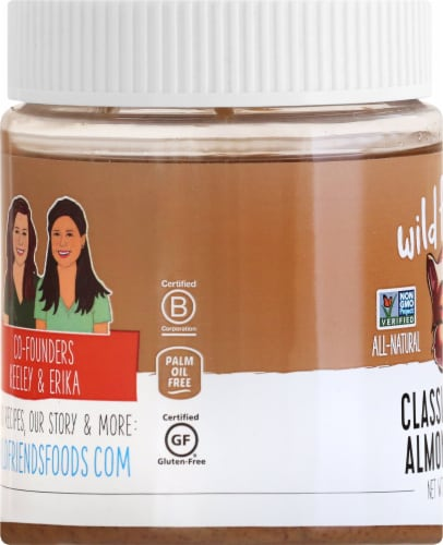 Wild Friends Organic Creamy Almond Butter Perspective: left