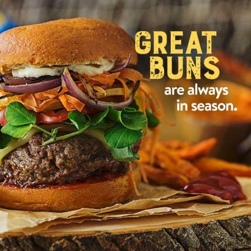 Canyon Bakehouse® Gluten Free Whole Grain Burger Buns Perspective: left