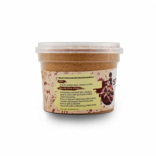 Iya Foods Grilled Steak Suya with Roasted Peanuts Seasoning Perspective: left