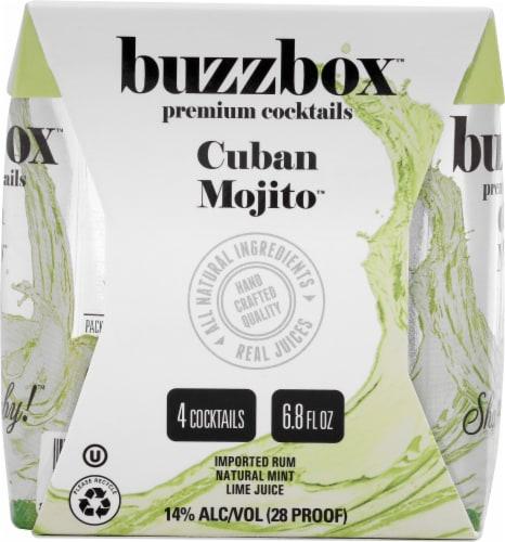 buzzboz Premium Cocktails Cuban Mojito Cocktail Perspective: left