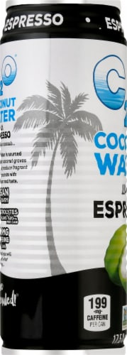 C2O Coconut Water with Espresso Perspective: left