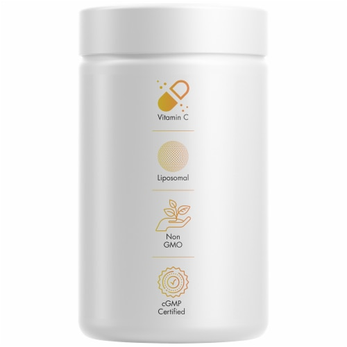 Codeage Liposomal Vitamin C Capsules 1500mg Perspective: left