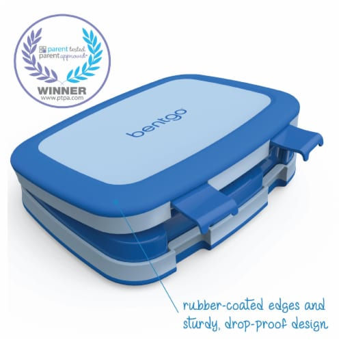 Bentgo Kids Leak Proof Chidren's Lunch Box - Blue Perspective: left