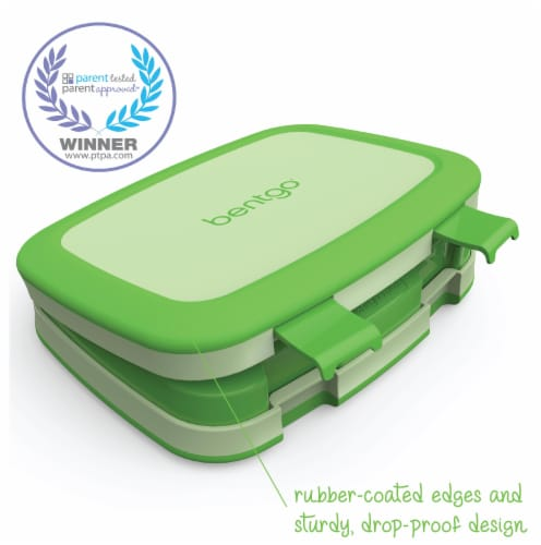 Bentgo Kids Chidrens Leak Proof Lunch Box - Green Perspective: left