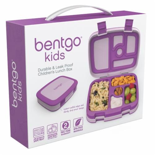 Bentgo Kids Childrens Leak Proof Lunch Box - Purple Perspective: left