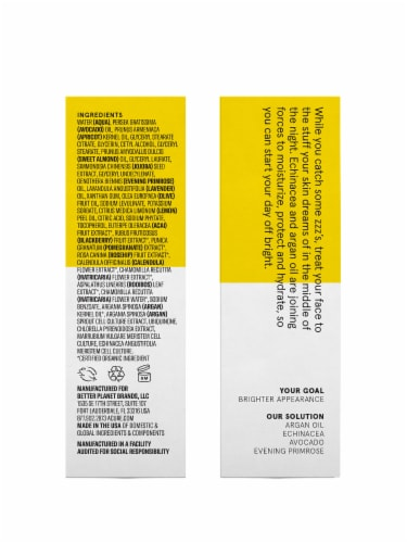 Acure Brightening Night Cream Perspective: left