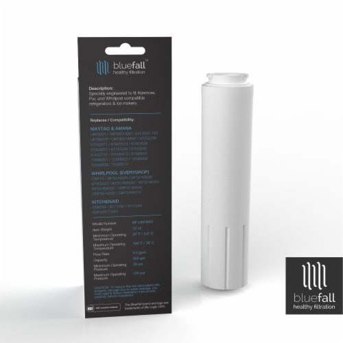 Maytag UKF8001 3PK Refrigerator Water Filter Compatible by BlueFall Perspective: left