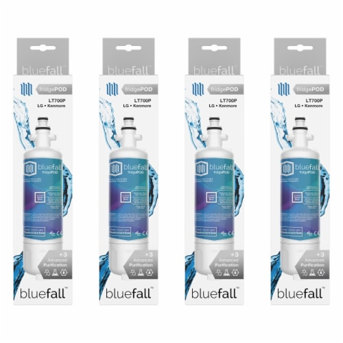 LG LT700P 4PK Refrigerator Water Filter Compatible by BlueFall Perspective: left
