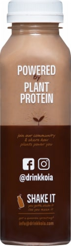 Koia Plant Based Cacao Bean Protein Drink Perspective: left