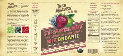 Tres Agaves® Organic Strawberry Margarita Mix Perspective: left