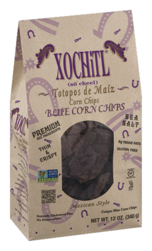 Xochitl Blue Corn Tortilla Chips Perspective: left