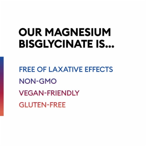 Physician's Choice Magnesium Bisglycinate Chelate Dietary Supplement Perspective: left