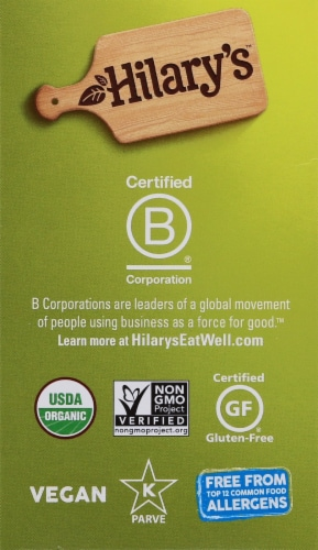 Hilary's Organic World's Best Veggie Burger Perspective: left