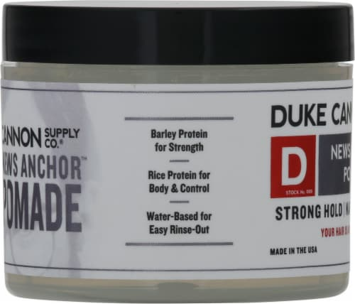 Duke Cannon News Anchor Natural Matte Finish Pomade Perspective: left