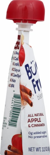 Buddy Fruits Apple Cinnamon Blended Fruit Pouch Perspective: left