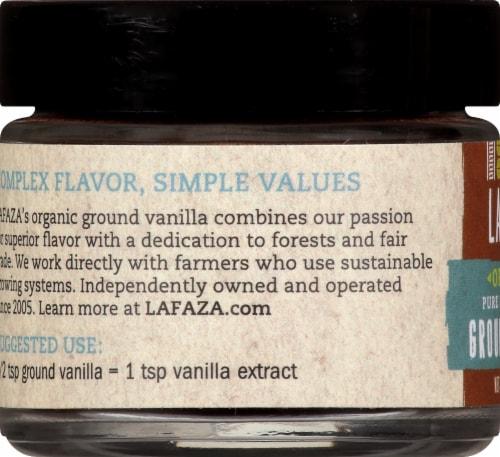 LAFAZA Organic Pure Madagascar Ground Vanilla Perspective: left