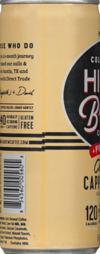 High Brew Coffee Creamy Cappuccino Cold-Brew Coffee + Protein Perspective: left
