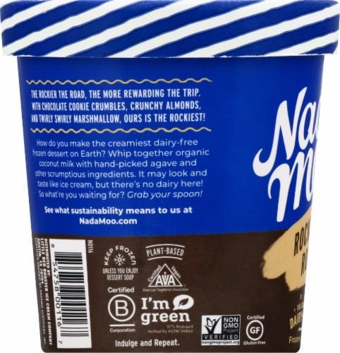 Nadamoo The Rockiest Road Dairy-Free Frozen Dessert Perspective: left