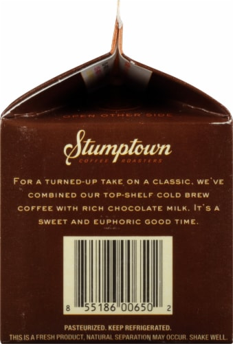 Stumptown Chocolate Cold Brew Coffee with Cream & Sugar Perspective: left
