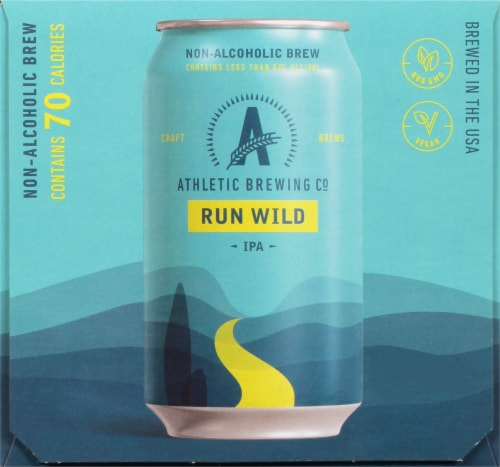 Athletic Brewing Co. Run Wild Non Alcoholic IPA Perspective: left