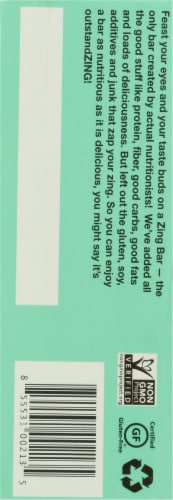 Zing® Dark Chocolate Mint Nutrition Bars Perspective: left