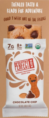 Perfect Kids Organic Chocolate Chip Refrigerated Snack Bars 5 Count Perspective: left