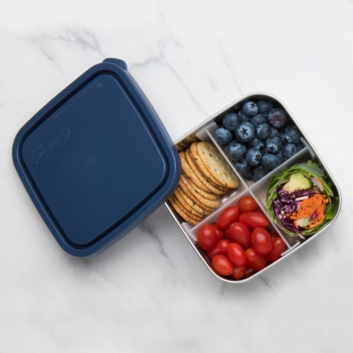 U-Konserve Divided To-Go Medium Stainless Steel Container - Ocean Perspective: left