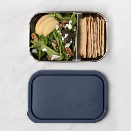 U-Konserve Divided Rectangle Stainless Steel Container - Ocean Perspective: left